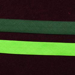 Schrägband uni dunkles tannengrün