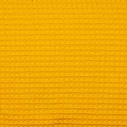 Waffelstoff uni gelb