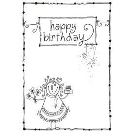 Postkarte A6 - happy birthay