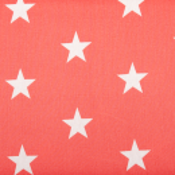 "Baumwolle ""Stars"" koralle"