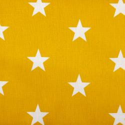 """Baumwolle """"Stars"""" ocker"""