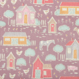 Tilda Fabric Tiny Farm mauve