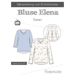 Papierschnittmuster Bluse Elena Damen Fadenkäfer