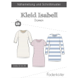 Papierschnittmuster Kleid Isabell Damen Fadenkäfer
