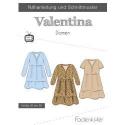 Papierschnittmuster Kleid Valentina Damen Fadenkäfer