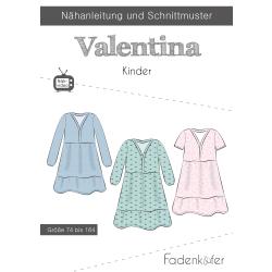 Papierschnittmuster Kleid Valentina Kinder Fadenkäfer