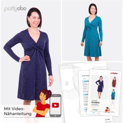 Damenkleid mit Knotenausschnitt Gloria by pattydoo