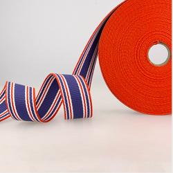 Gurtband Dreifarbig Streifen blau-rot-weiss