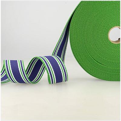 Gurtband Dreifarbig Streifen blau-grün-weiss