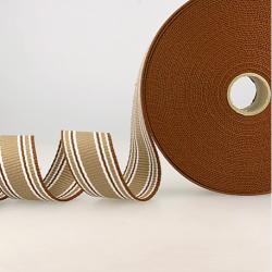 Gurtband Dreifarbig Streifen braun-sand-weiss