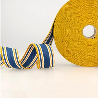 Gurtband Dreifarbig Streifen blau-orange-weiss