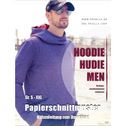 Papierschnitt Hoodie Hudie MEN von Prülla