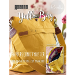 Papierschnitt Schultertasche yello bag von Prülla