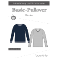 Papierschnittmuster Basic-Pullover Herren Fadenkäfer