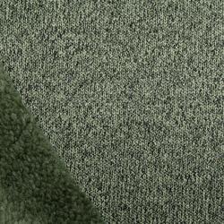 Strick-Fleece oliv meliert