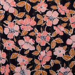 """Baumwolle """"Crafted Blooms"""" schwarz"""