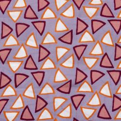 "Viskose ""Retro Triangles"" lila"