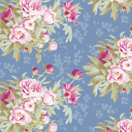 Tilda Fabric Woodland Hazel blue