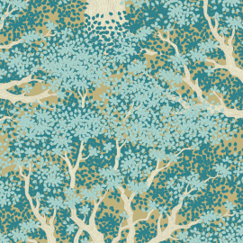Tilda Fabric Woodland Juniper teal