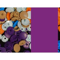 Kam Snaps - violett - glanz - 25 Stück