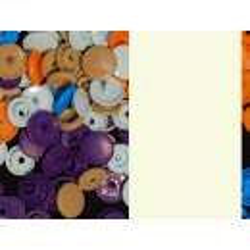 Kam Snaps - eierschalenweiss - matt - 25 Stück