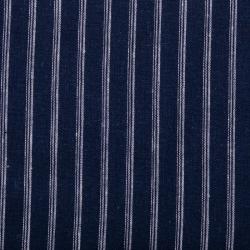 """Baumwoll-Leinen-Gemisch """"Stripes"""" marine"""