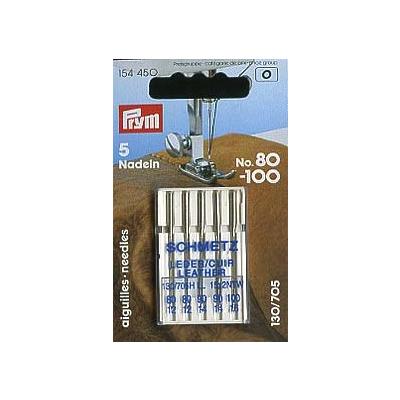 Prym Nähmaschinennadeln 130/705 Leder No. 80-100