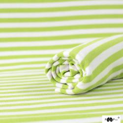 Bio-Ringelbündchen apfelgrün-weiss by PaaPii