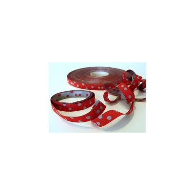Punkteband, rot-grau