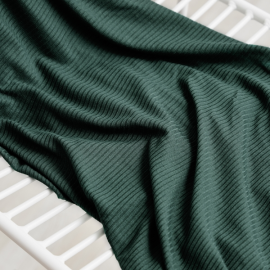 Derby Ribbed Jersey deep green by MeetMILK