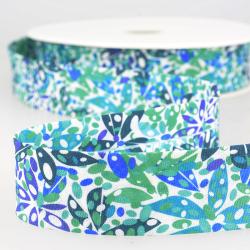 """Schrägband """"Blütenblatt"""" blau"""