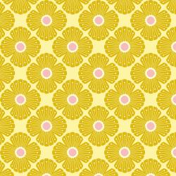 """Baumwolle """"Wildflowers"""" gelb"""