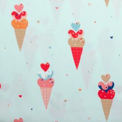 "Baumwolle ""Ice Cream"" helles mint"