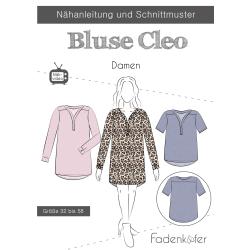 Papierschnittmuster Bluse Cleo Damen Fadenkäfer