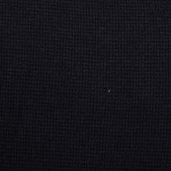 Waffeljersey uni schwarz