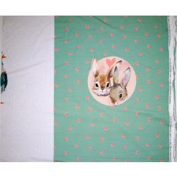 Jersey Bunny Love altgrün Panel 80 cm
