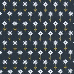 Baumwolle Jule Blümchen marine