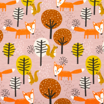 Sommersweat Fuchs im Wald altrosa