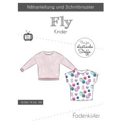 Papierschnittmuster Fly Kinder Fadenkäfer
