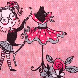 Jersey Sewing Love rosa-aqua Panel 70cm