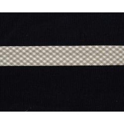 Schrägband Vichy-Karo grau/weiss