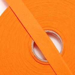 Schrägband uni orange