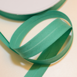 Schrägband uni seegrün
