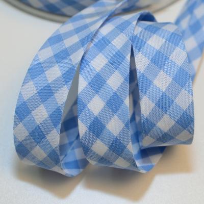 Schrägband Vichy-Karo gross hellblau