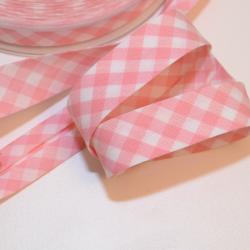 Schrägband Vichy-Karo gross rosa
