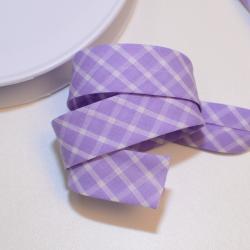 Schrägband karo lila