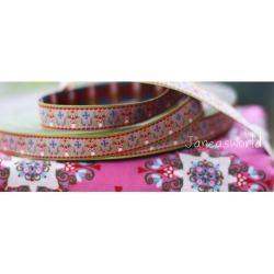 Pilz-Ornamente rosa, Webband