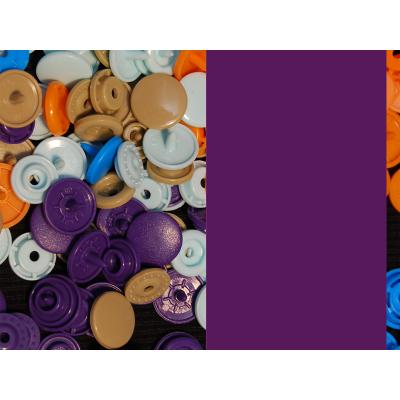 Kam Snaps - dunkelviolett - glanz - 25 Stück