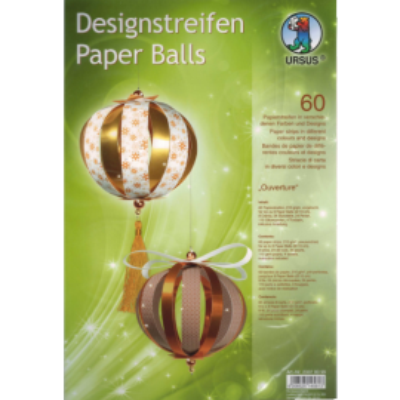 "Designstreifen Paper Balls ""Ouverture"""