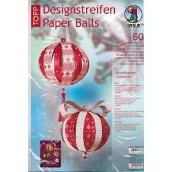 "Designstreifen Paper Balls ""Scandinavian..."